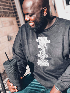 Aggressively pro-black Adults Charcoal Crewneck