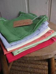 6 x French vintage linen serviettes-SOLD OUT.