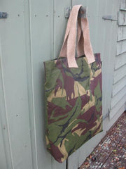 Army Camouflage Drill khaki bag-Fully lined.