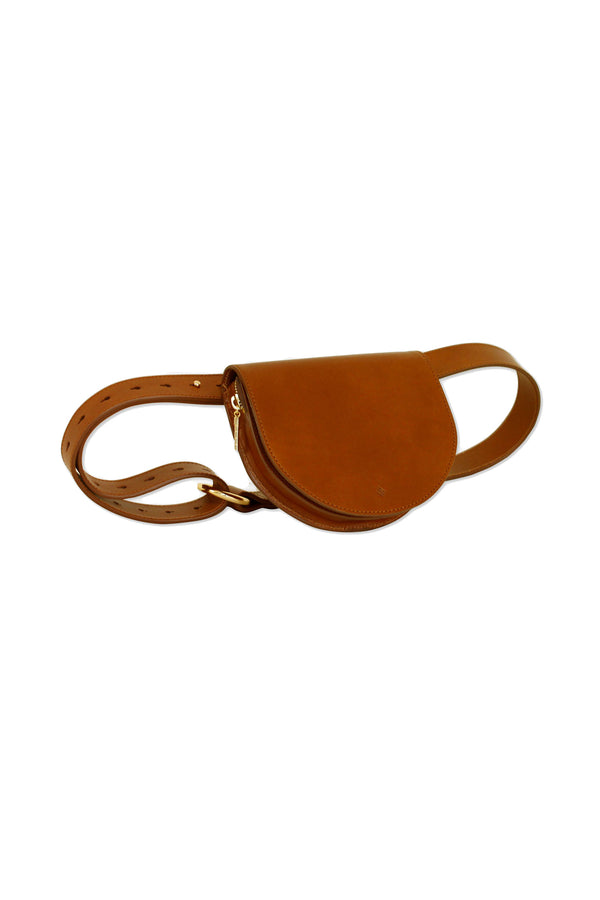 Toffee Palmetto Mini Belt Bag by ASHYA