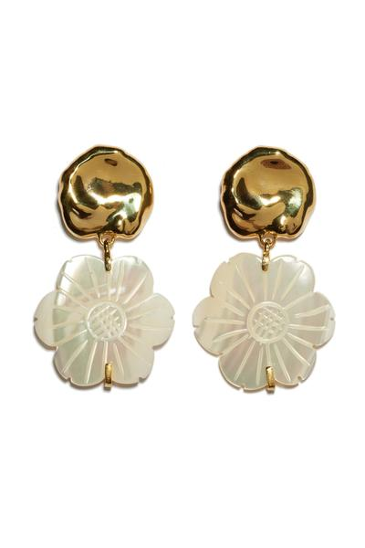 Blanc Daisy Earrings