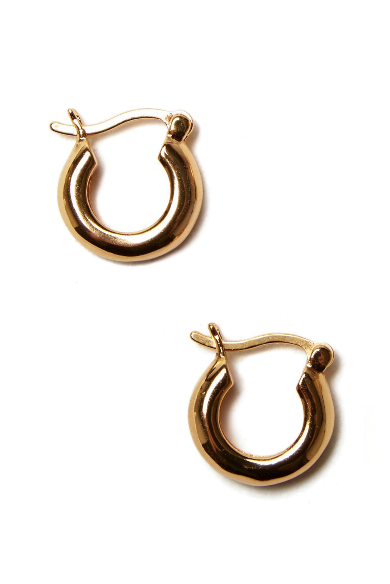 Small Gold Mood Hoops