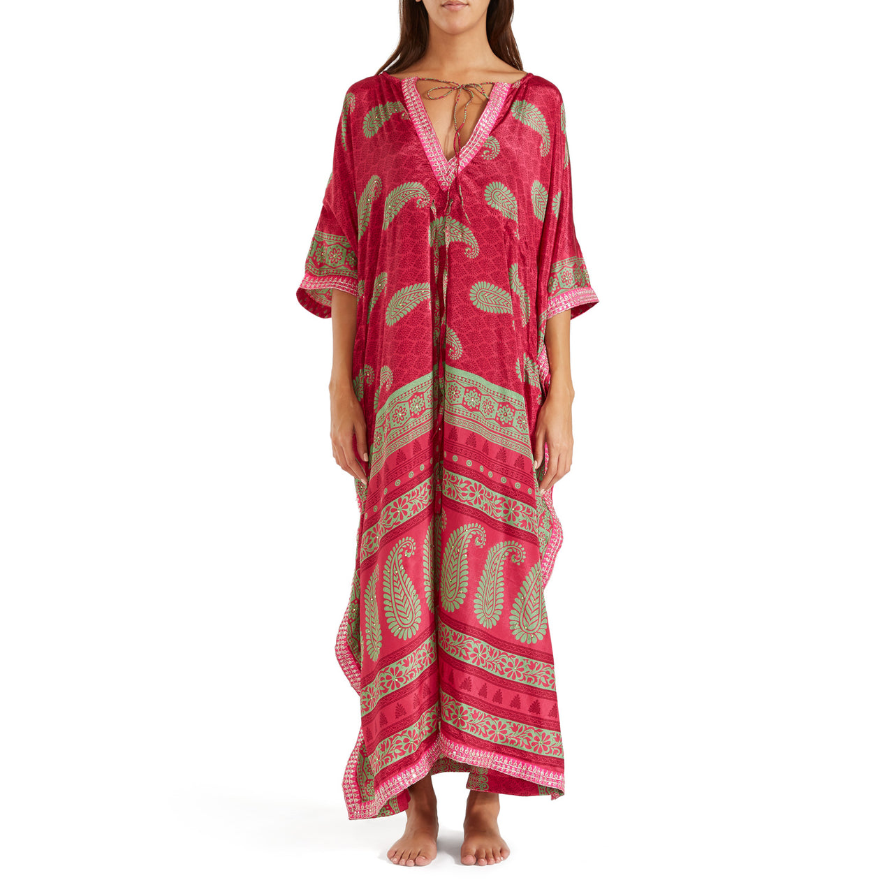 The Shannon  Silk Kaftan 5