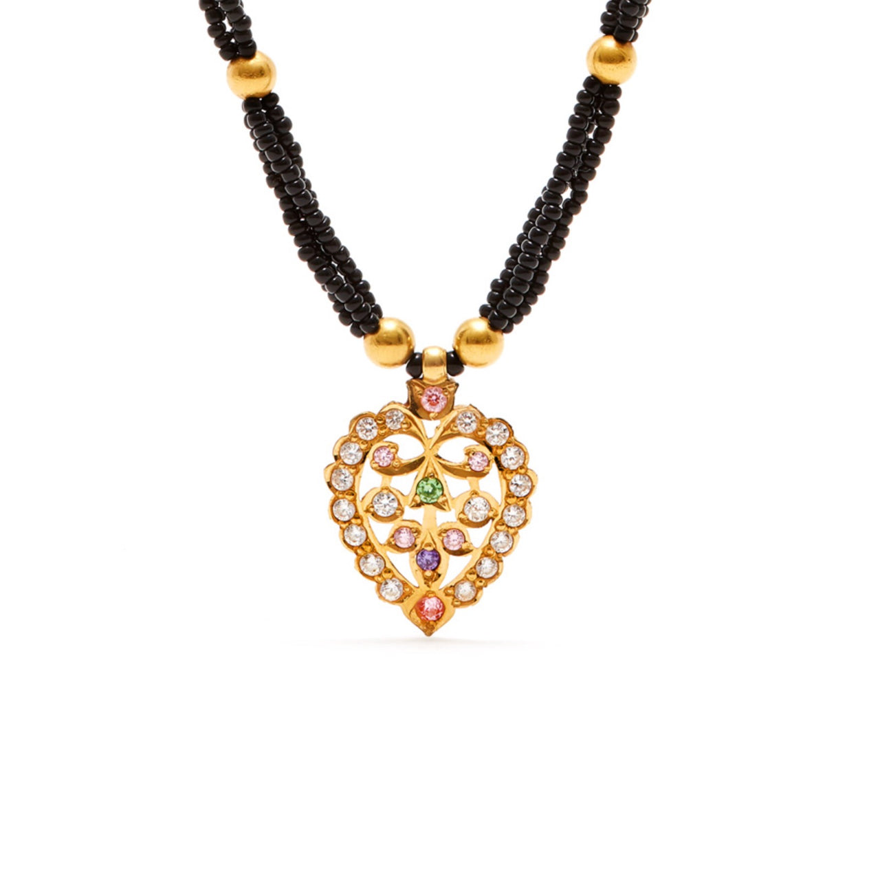 Jaipur Atelier Black Heart Tribal Pendant