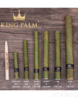 King Palm Slim Natural Pre-Rolled Cones w/ Boveda Pack (5-Pack)