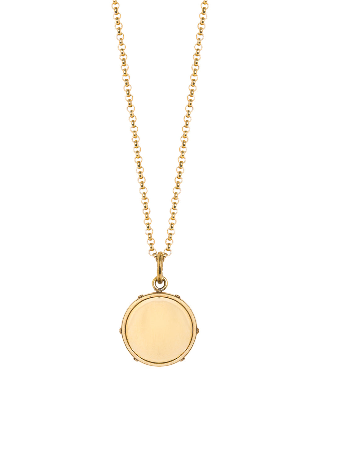 Medium Gold Disc Necklace by Tilly Sveaas