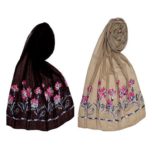 Designer Diamond Cotton Ari Scarves-Combo pack