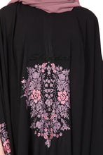 Load image into Gallery viewer, Embroidered Irani kaftan- Black-Mauve