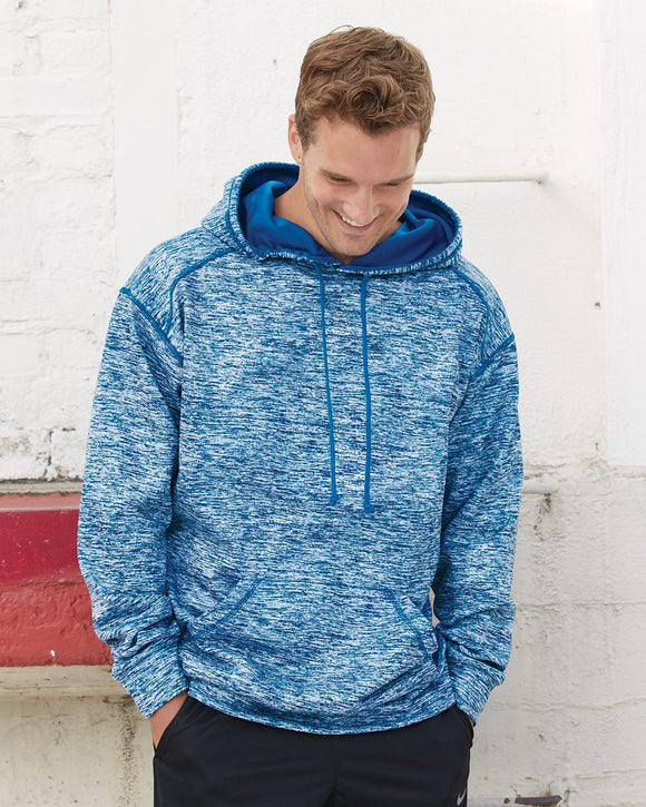 Blend Polyester Fleece Performance Hooded Sweatshirt