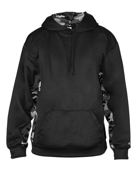 Camo Colorblock Performance Fleece Hooded Sweatshirt