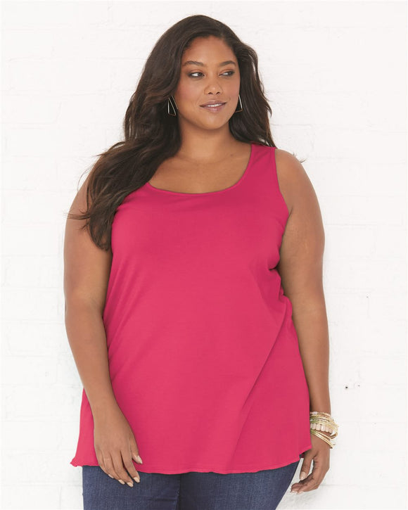 Curvy Collection Women's Premium Jersey Tank
