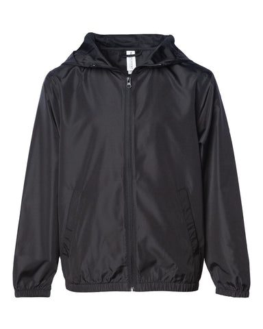Youth Light Weight Windbreaker Zip Jacket