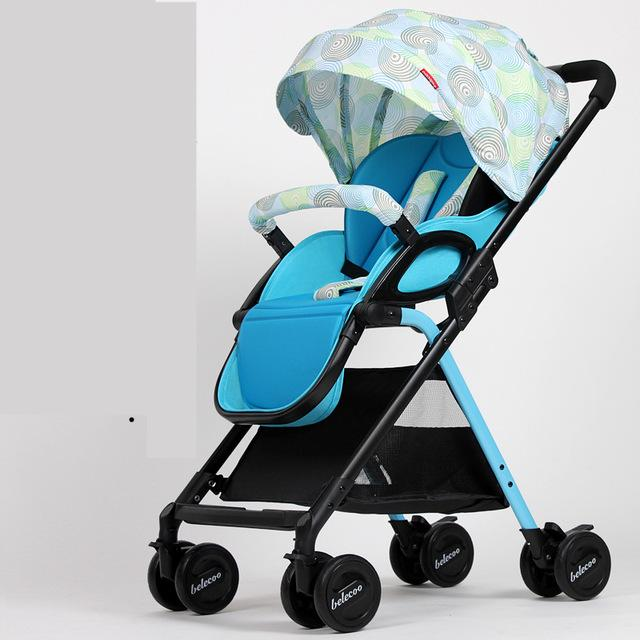 Lightweight Portable Baby Stroller With Large Storage Bag,Sunshade Folding Baby Carriage,High Landscape Prams Baby Strollers