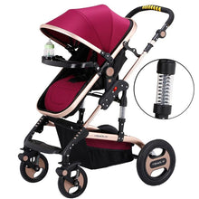 Load image into Gallery viewer, Lightweight Baby Stroller Newborn Pram Sit Lay Baby Carriage Umbrella Cart Fold Portable Traveling Stroller Can Take to Plane
