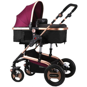 Lightweight Baby Stroller Newborn Pram Sit Lay Baby Carriage Umbrella Cart Fold Portable Traveling Stroller Can Take to Plane
