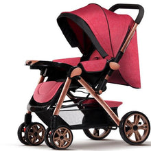 Load image into Gallery viewer, Hot Sale Fashion Baby Stroller Foldable Sit and Lie,5 Point Harness Stroller,Baby stroller,poussette pliante portable