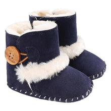 Load image into Gallery viewer, Warm Autumn Winter Fleece Baby Shoes Toddler Soft Sole Boots Girls Boys Toddlers Snow Boots Sneakers