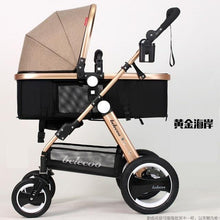 Load image into Gallery viewer, Luxury Baby Stroller Lightweight Baby Carriage Strollers Kids Pram Traval Pushchair For 6-36 Months, Kinderwagen, bebek arabasi