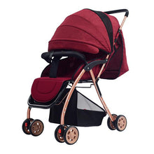 Load image into Gallery viewer, New Arrival Baby Stroller High Landscape Lightweight Portable Sit & Lie Baby Carriage Foldable Infant Pram Pushchairs carrinho