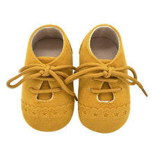 Load image into Gallery viewer, Hot Newborn Baby First Walk Shoes Girl Boy Soft Nubuck Leather Prewalker Anti-slip Shoes Moccasins Footwear Shoes Toddler Shoes