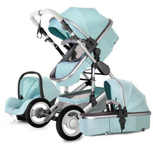 Load image into Gallery viewer, New Style Baby Stroller 3 In 1 Luxury Folding Newborns Carriage With Car Seat 0~3Years Baby Prams Sleeping Basket Kid poussette