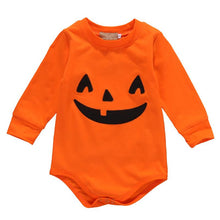 Load image into Gallery viewer, Halloween Baby Cotton Romper Newborn Baby Girl Boy Long Sleeve Romper Fall Pumpkin Body Suit 2017 New Halloween Costume Outfits