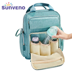 SUNVENO Diaper Bag Backpack Maternity Baby Bag Mom Backpack Stylish Stroller Baby Diaper Bags For Mom
