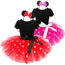 Load image into Gallery viewer, Newborn Baby Girl Dress Fancy Halloween Mouse Dots Costume 1 Year Birthday Outfit Little Girls Dresses Party Wear Free Headband