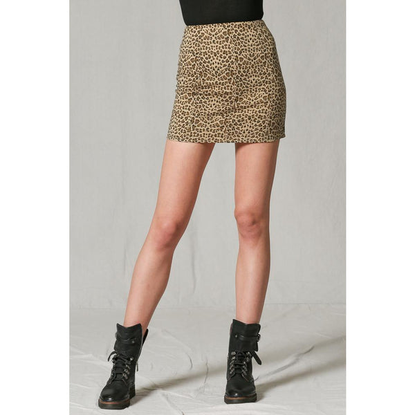 Leopard mini skirt Here Kitty Kitty Skirt by together Revolve