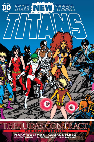 New Teen Titans: Judas Contract Deluxe Ed HC, signed by Marv Wolfman!