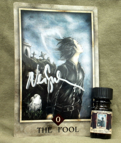 BPAL Presents Neil Gaiman's The Fool Fragrance & Tarot Card, signed by Neil Gaiman!