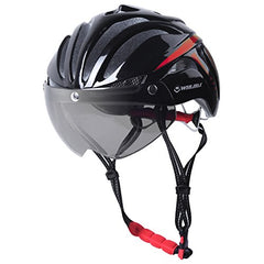 Cycling Safety Helmet With Lens & Anti-Insect Net