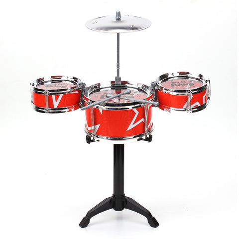 Red Blue Kids Toys Drum Kit Set