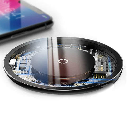10W Wireless Charging Pad For iPhone / Samsung - Zalaxy