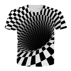 Black And White Printing T Shirt