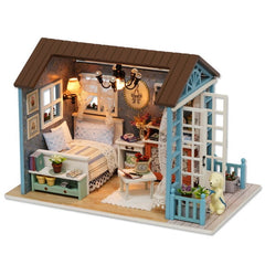 DIY Wooden Dollhouse With Furniture Kits