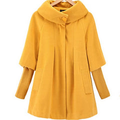 Women Loose Knitted Sleeves Coat