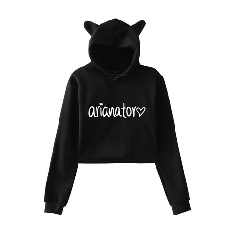 Cat Crop Top Women Hoodies - Zalaxy