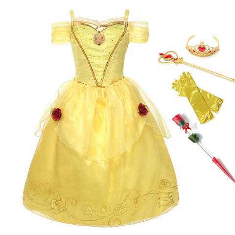 Princess Belle Dress For Girl Costumes