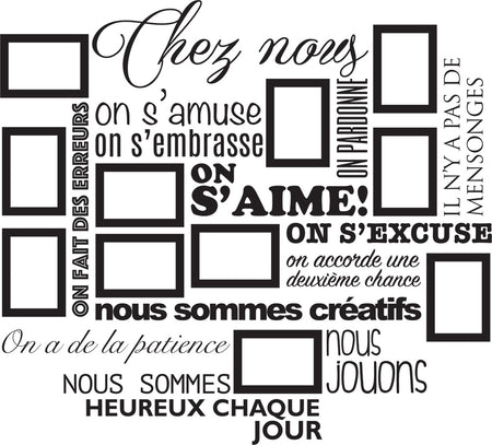 Sticker Chez Nous On S'aime ... en photos