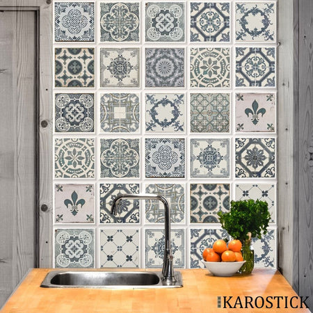Stickers Carrelages - Carreaux Ciment Ferveur Baroque