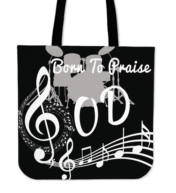 Born To Praise God-Tote Bags (black) - elisway