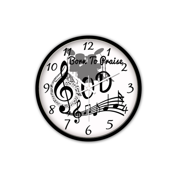 Born To Praise God-Silent Wall Clock - elisway