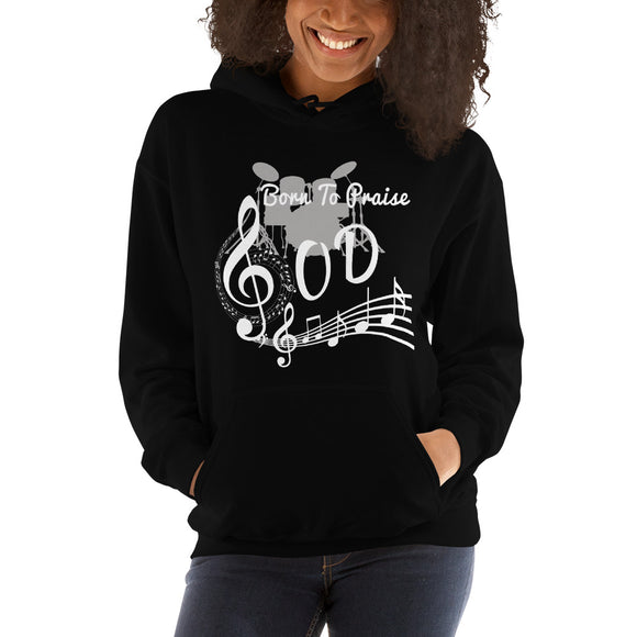Born To Praise God-Hooded Sweatshirt - elisway