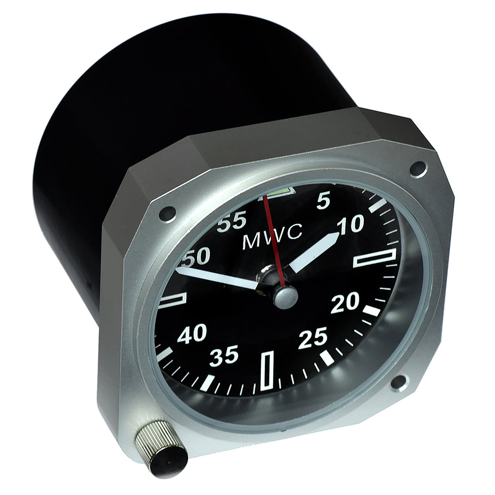 Limited Edition Replica Cockpit / Desk Clock in Aluminium Finish