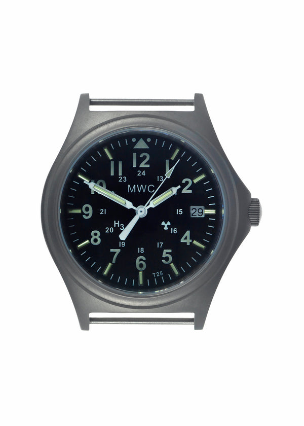 MWC Titanium General Service Watch with 300m Water Resistance, 10 Year Battery Life, GTLS, Sapphire Crystal and 12/24 Dial Format - Ex Display Watch from a Tradeshow
