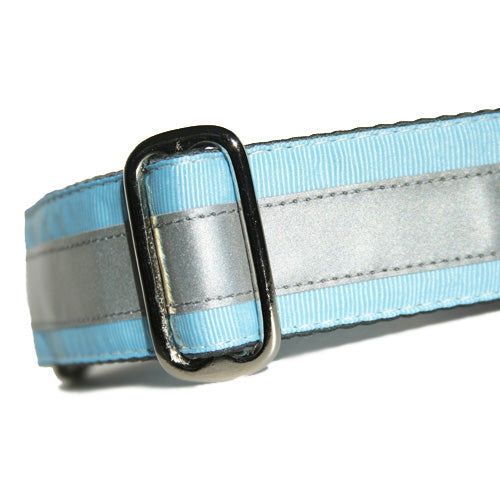 Reflective Sky Blue ID Tag Collar