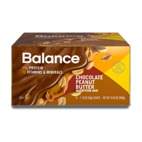 BALANCE Chocolate Peanut Butter Protein Bars - 6 Count