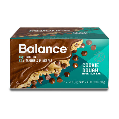 BALANCE Cookie Dough Protein Bars - 6 Count