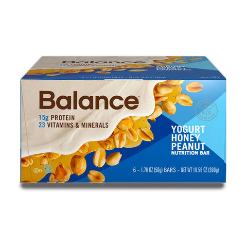 BALANCE Yogurt Honey Peanut Protein Bars - 6 Count